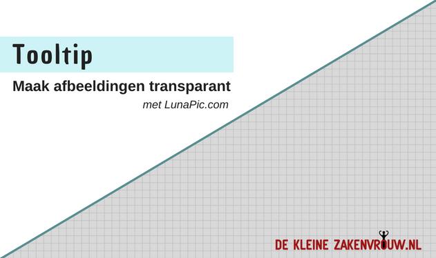 Gratis tool voor transparante afbeeldingen